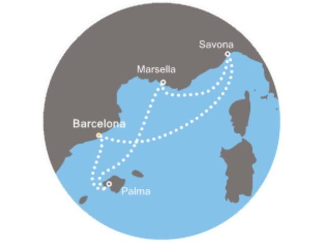 crucero-Islas Baleares, Francia, Italia con el Costa Mediterranea