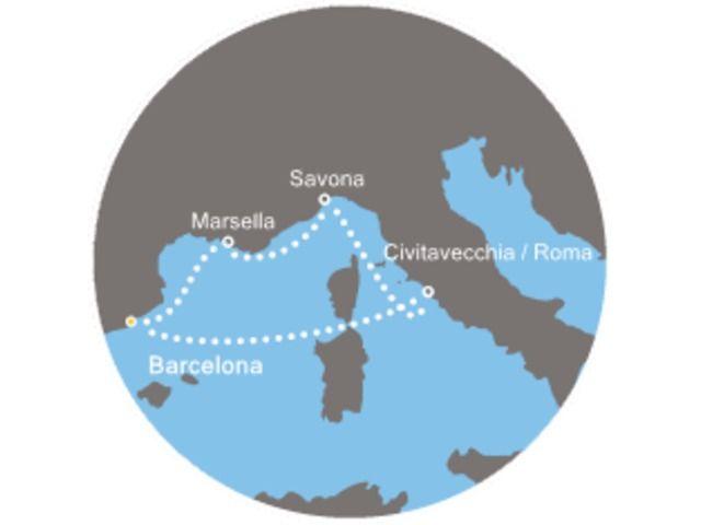crucero-Francia, Italia con el Costa Favolosa