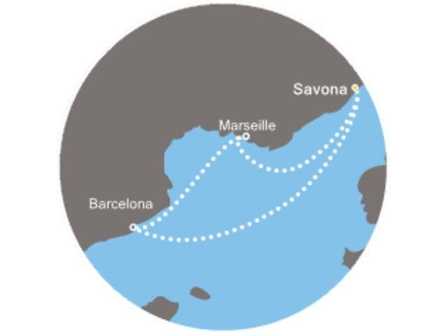 crucero-Cielo azul con el Costa Mediterranea