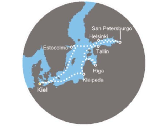 crucero-Capitales del norte con el Costa Pacifica