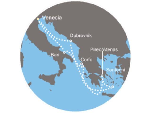 crucero-Italia, Grecia, Croacia con el Costa Deliziosa