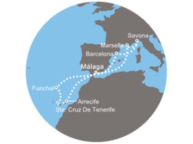 crucero-España, Italia, Francia, Canarias, Madeira con el Costa Favolosa