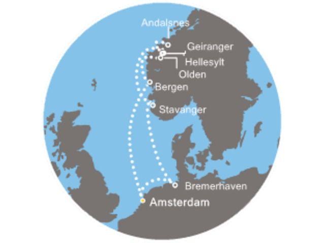 crucero-Holanda, Noruega, Alemania con el Costa Mediterranea