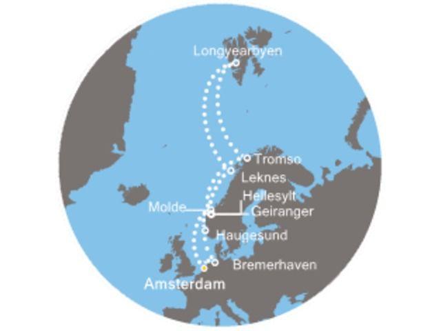 crucero-Holanda, Noruega, Spitzbergen/Noruega, Alemania con el Costa Mediterranea