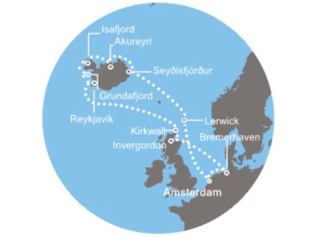 crucero-Holanda, Islanda, Escocia, Alemania con el Costa Mediterranea