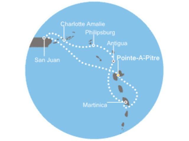 crucero-Antigua, Antillas, Islas Vírgenes con el Costa Magica