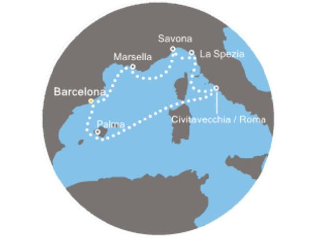 crucero-Maravilloso Mediterráneo con el Costa Diadema