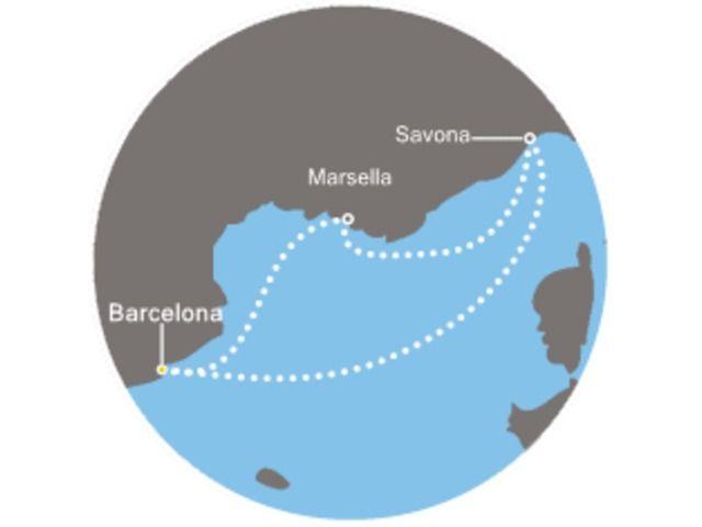 crucero-España, Italia, Francia con el Costa Mediterranea