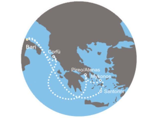 crucero-Italia, Grecia con el Costa neoClassica