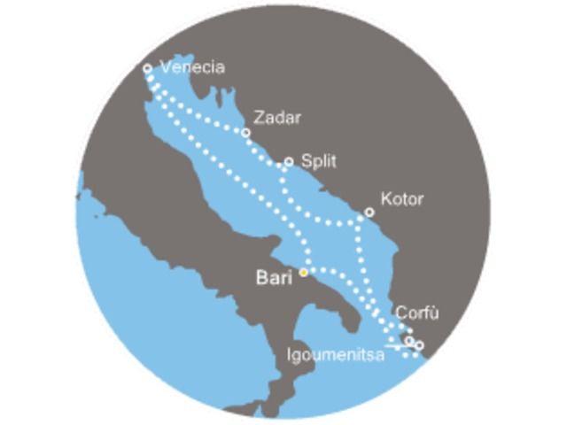 crucero-Italia, Croacia, Montenegro, Grecia con el Costa neoRiviera