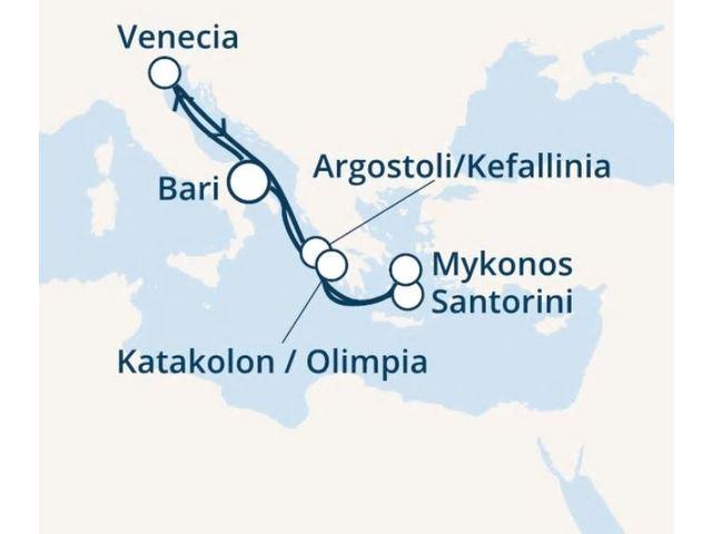 crucero-Italia, Grecia con el Costa Deliziosa