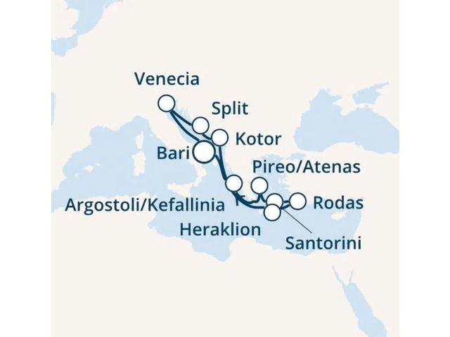 crucero-Italia, Grecia, Montenegro, Croacia con el Costa Victoria