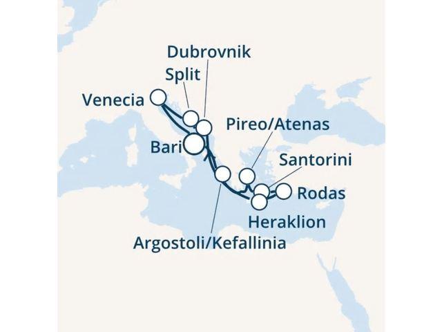 crucero-Italia, Grecia, Croacia con el Costa Victoria