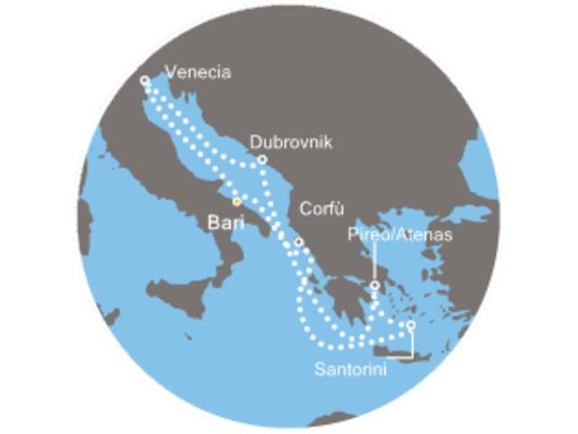 crucero-Italia, Grecia, Croacia con el Costa neoClassica