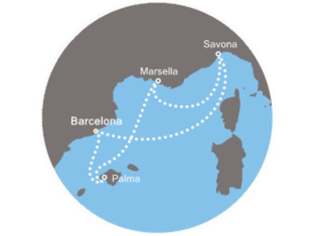 crucero-Baleares, Francia, Italia con el Costa Favolosa