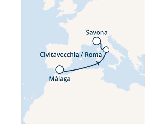 crucero-España, Italia, Francia, Canarias con el Costa Favolosa