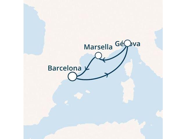 crucero-España, Francia, Italia con el Costa Magica