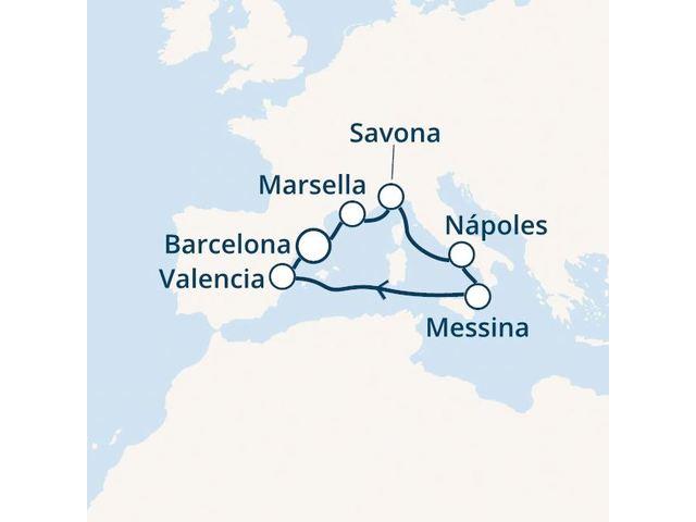 crucero-España, Islas Baleares, Malta, Italia con el Costa Pacifica