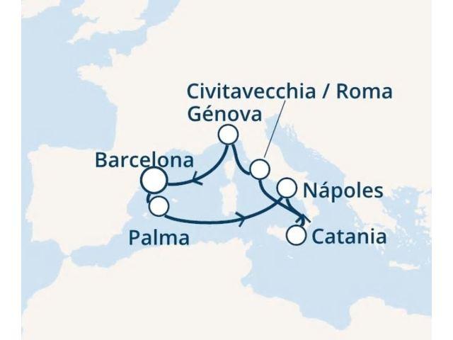 crucero-España, Islas Baleares, Italia con el Costa Pacifica