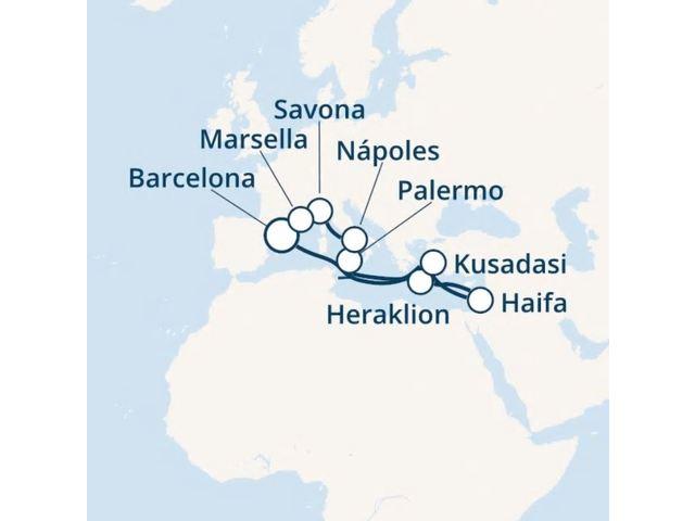 crucero-España, Grecia, Italia, Francia con el Costa Fortuna