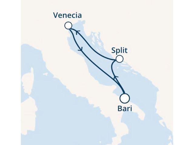 crucero-Italia, Croacia con el Costa Mediterranea