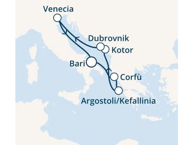 crucero-Italia, Grecia, Montenegro, Croacia con el Costa Luminosa