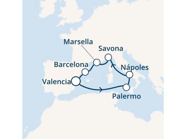 crucero-España, Italia, Francia con el Costa Fortuna