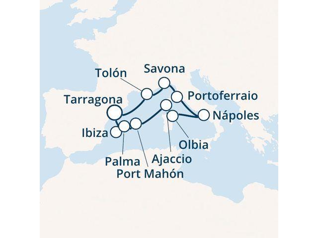 crucero-España, Islas Baleares, Córcega (Francia), Italia con el Costa Victoria