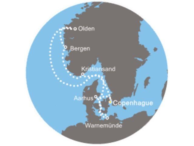 crucero-Dinamarca, Noruega, Alemania con el Costa Favolosa