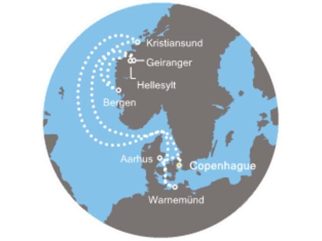 crucero-Noruega con el Costa Favolosa