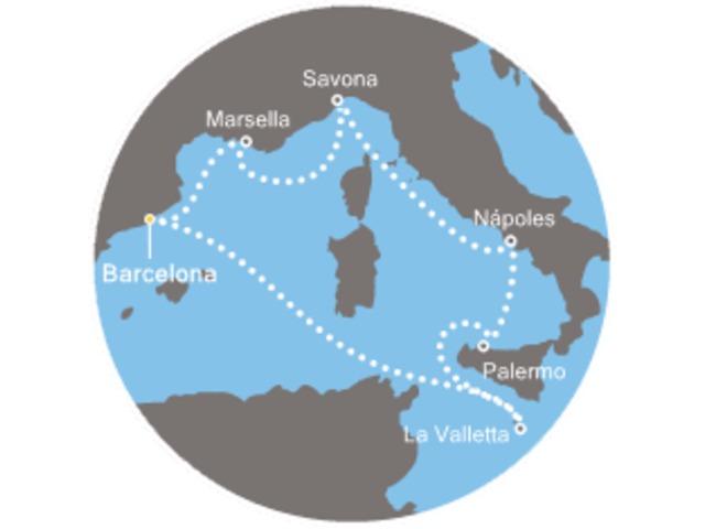 crucero-Francia, Italia, Malta con el Costa Fascinosa