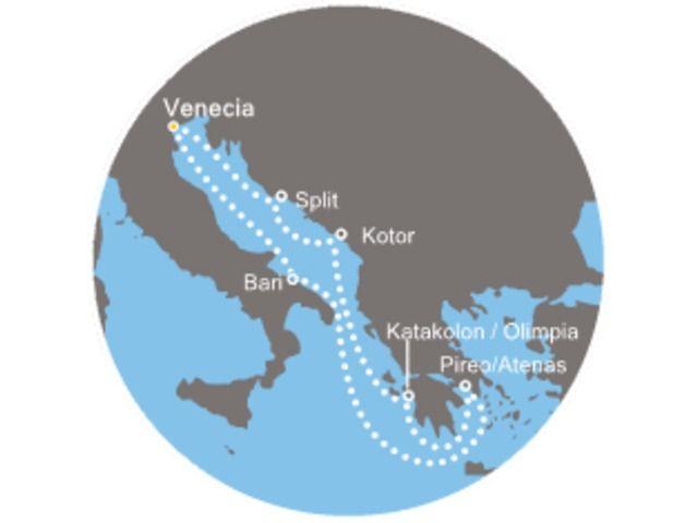 crucero-Italia, Croacia, Montenegro, Grecia con el Costa Luminosa