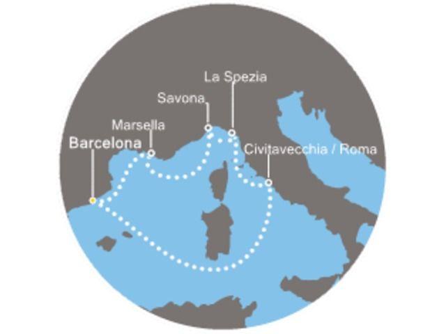 crucero-España, Islas Baleares, Italia, Francia con el Costa Diadema