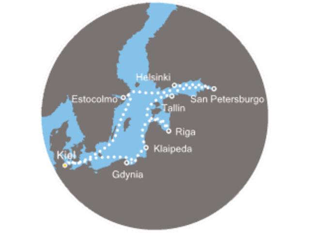 crucero-Alemania, Suecia, Finlandia, Rusia, Estonia, Lituania, Polonia con el Costa Pacifica