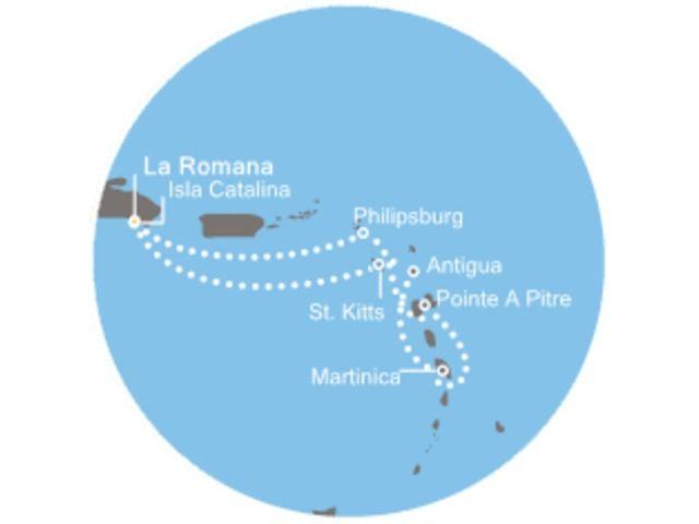 crucero-Antillas, República Dominicana, Antigua con el Costa Pacifica