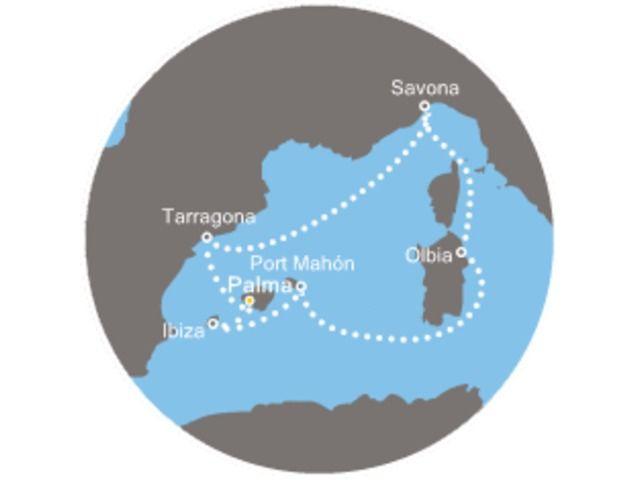 crucero-Islas Baleares, España, Italia con el Costa Victoria