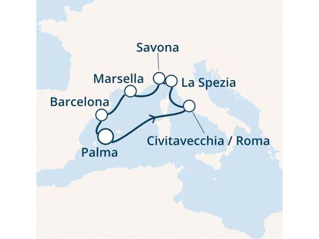 crucero-Islas Baleares, Italia, Francia, España con el Costa Smeralda