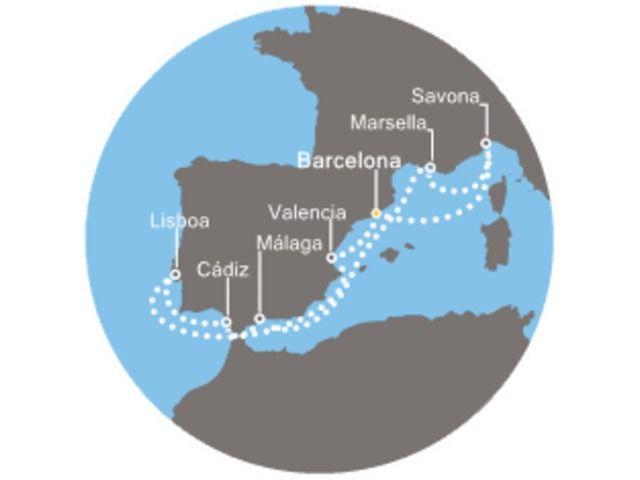 crucero-España, Francia, Italia, Portugal con el Costa Favolosa