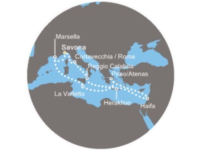 crucero-Italia, Grecia, Crocia  con el Costa Deliziosa