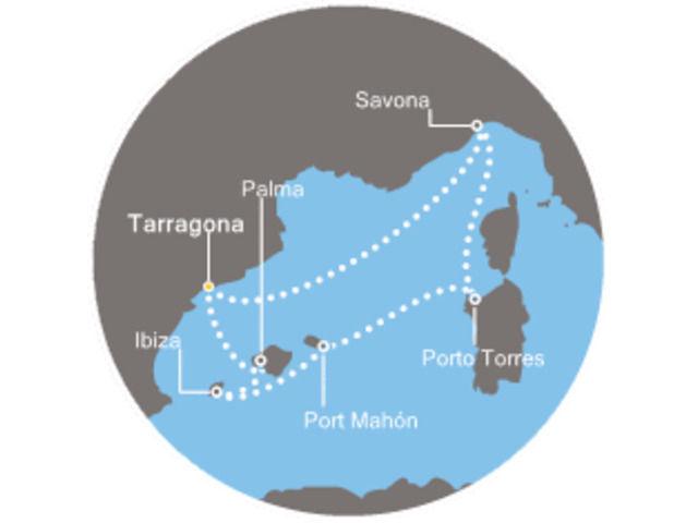 crucero-Baleares, Italia con el Costa neoRiviera