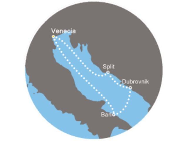 crucero-Italia, Croacia con el Costa Deliziosa