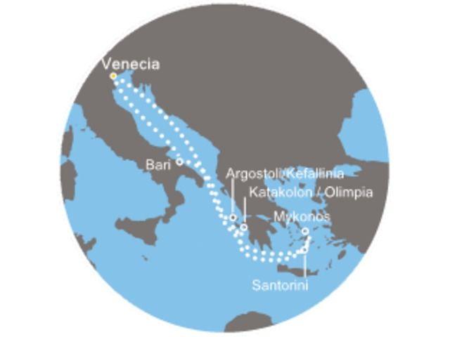 crucero-Italia, Grecia con el Costa Luminosa