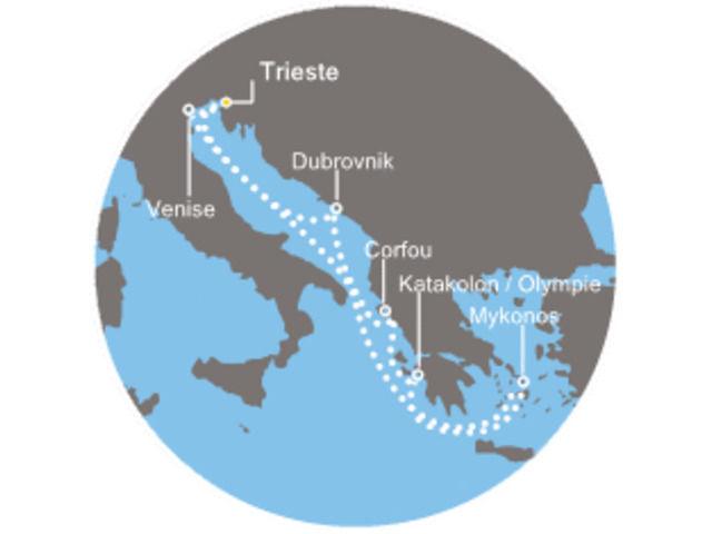 crucero-Pintado de azul con el Costa Pacifica
