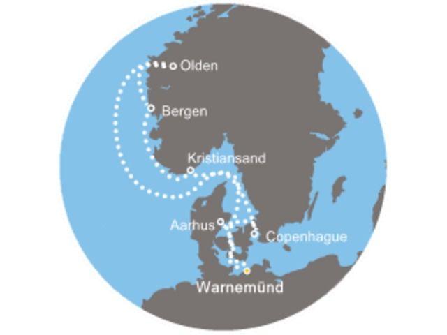 crucero-Alemania, Dinamarca, Noruega con el Costa Favolosa