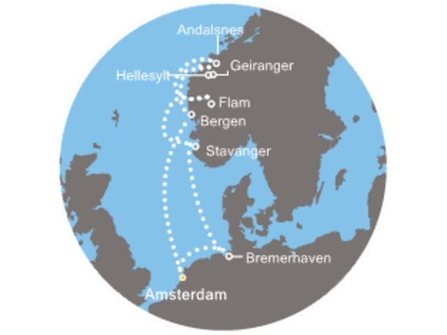Allemagne - Norvège - Pays-Bas/Hollande - Croisière au Pays-Bas, Norvège, Allemagne avec le Costa Mediterranea