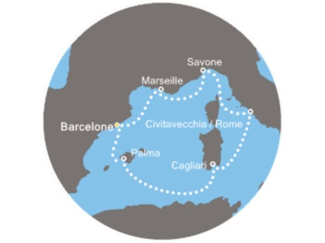 Croisière Espagne, Baléares, Italie, France avec le Costa Diadema - 1