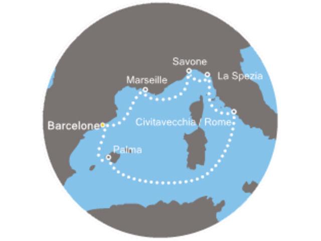 Îles Baléares, Italie, Espagne avec le Costa Diadema