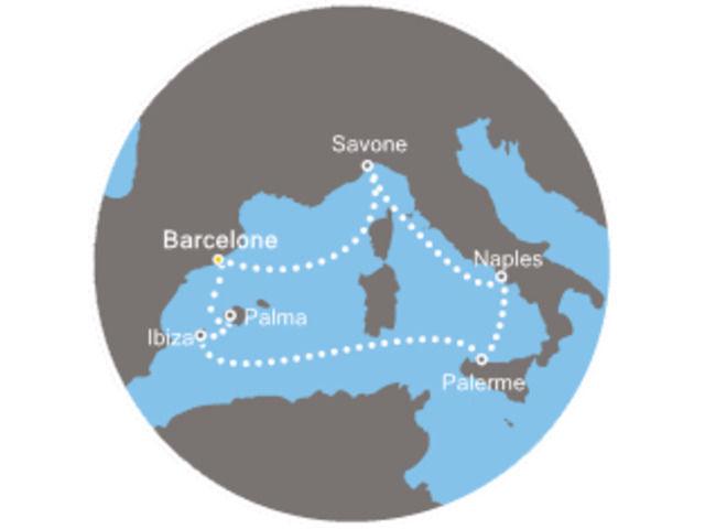 Espagne, Italie, Baléares avec le Costa Fascinosa