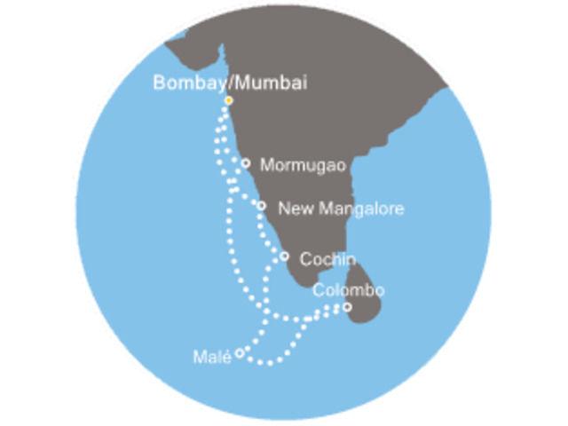 Inde, Maldives, Sri Lanka avec le Costa Victoria