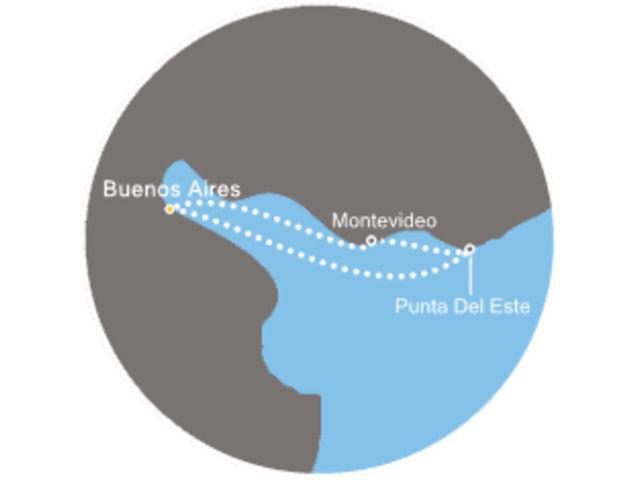 Argentine, Uruguay avec le Costa Fascinosa